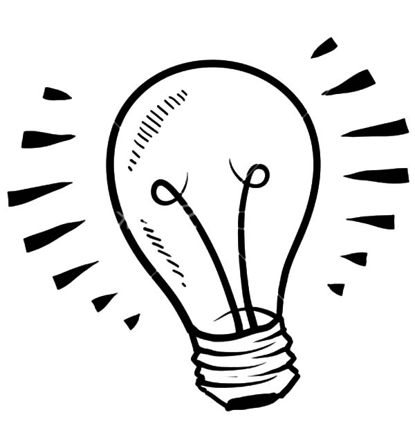 Fluorescent Light Bulb Coloring Pages Download & Print