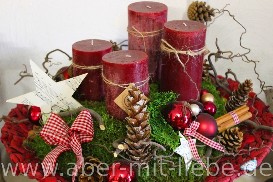 schale als adventskranz in bordeaux adventsdeko dunkelrot weihnachten aber mit liebe. Black Bedroom Furniture Sets. Home Design Ideas
