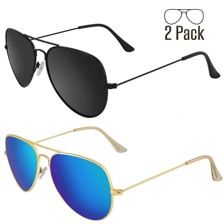 82a80ac513 Livhò Sunglasses for Men Women Aviator Polarized Metal Mirror UV 400 Lens  Protection