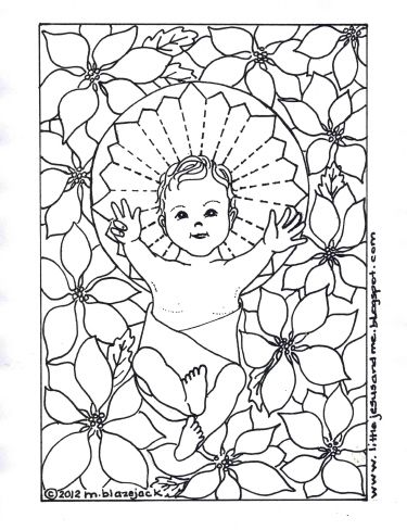 Little Jesus And Me Baby Coloring Page