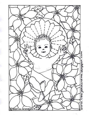Little Jesus and Me: Baby Jesus Coloring Page | Católicos niños ...
