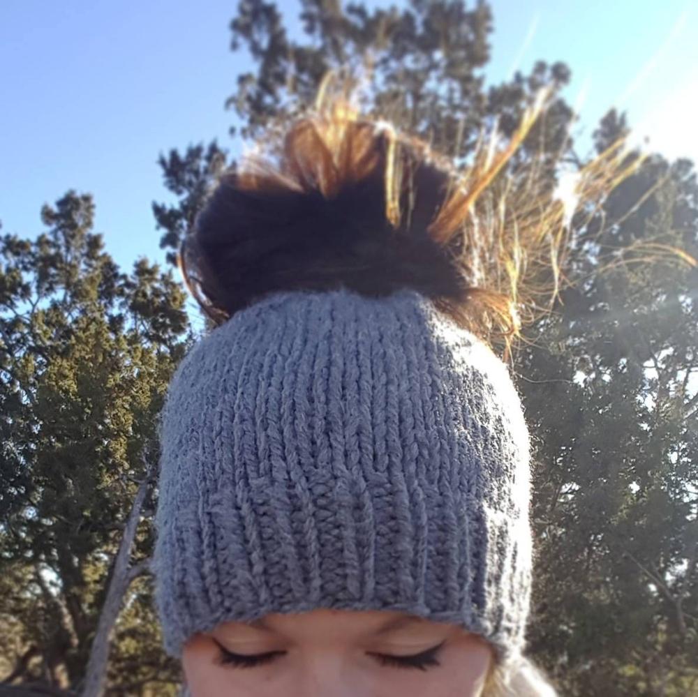 Messy Bun Beanie Solid Pony Tail Beanie Messy Bun Hat Pony Tail Hat Messy Bun Toque Chunky Ear Warmer Knit Hat Chunky Knit Hat  Messy Bun Beanie Solid Pony Tail Beanie Me...