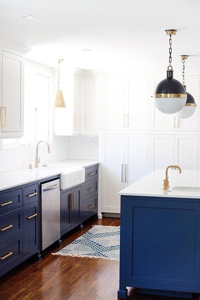 The 7 Best Cabinet Paint Colors For A Happier Kitchen According To Interior Designers White Remodeling Blue Cabinets Stylish