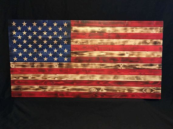 Wooden American Flag Hand Carved Flag Wood Burned Flag Wooden American Flag Rustic Flags American Flag