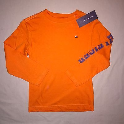 Boys Orange Long Sleeve T-Shirt-NWT