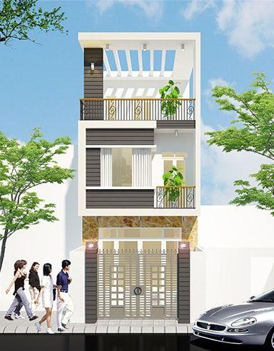 Kết quả hình ảnh cho Mẫu nhà phố 3 tầng 4 phòng ngủ