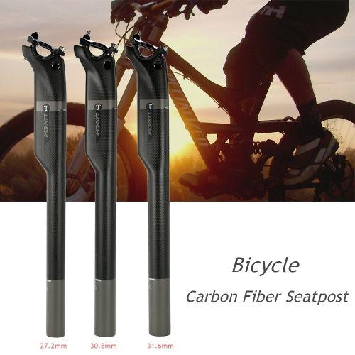 MTB Bicycle Seatpost Carbon Fiber Mountain Road Bike Seat Saddle Post Tube UD//3K