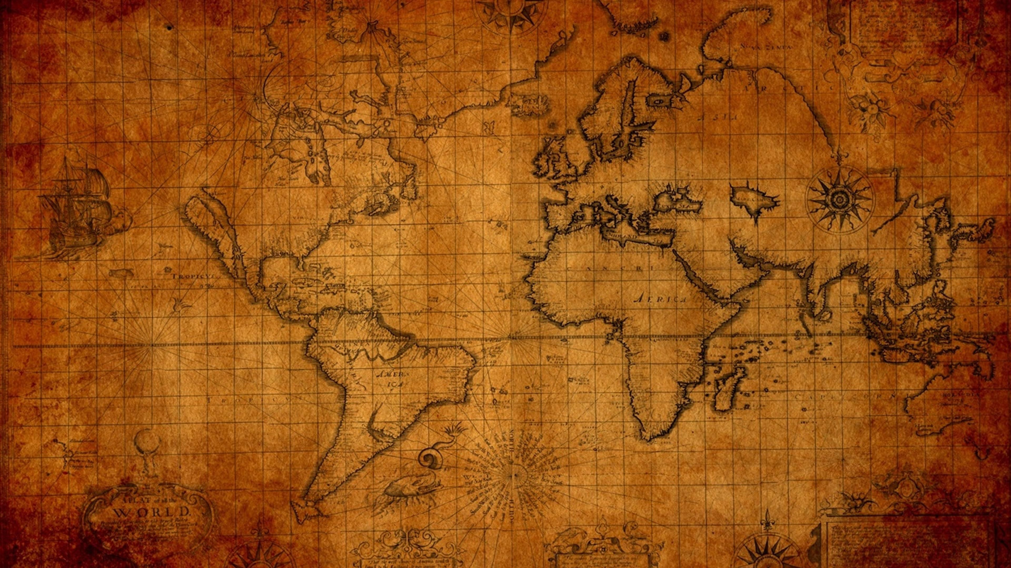 Old Map World Stuff Ultra 3840x2160 Hd Wallpaper 382504 Jpg 3840 2160 World Map Wallpaper Ancient World Maps Old World Maps