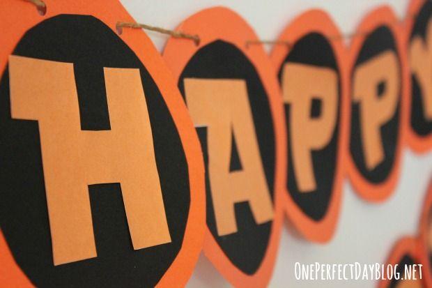 free halloween happy birthday banner