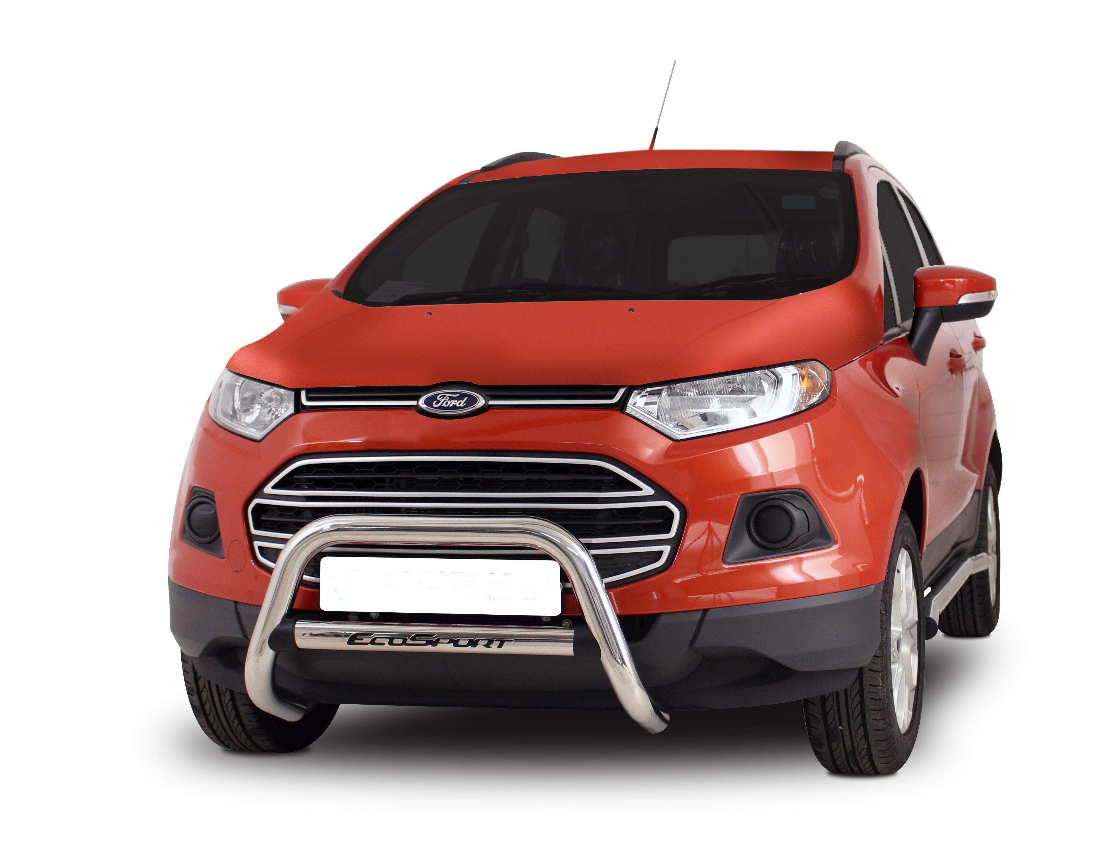 Ford Ecosport Nudge Bar Oval Stainless Steel Auto Line Ford Ecosport Stainless Steel Steel
