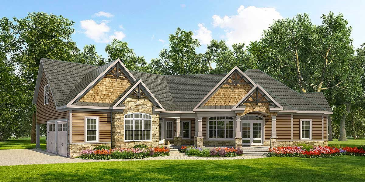 There are different outdoor spaces to the home and an entertaining floor plan inside also dk craftsman ranch with or beds lots of options rh pinterest