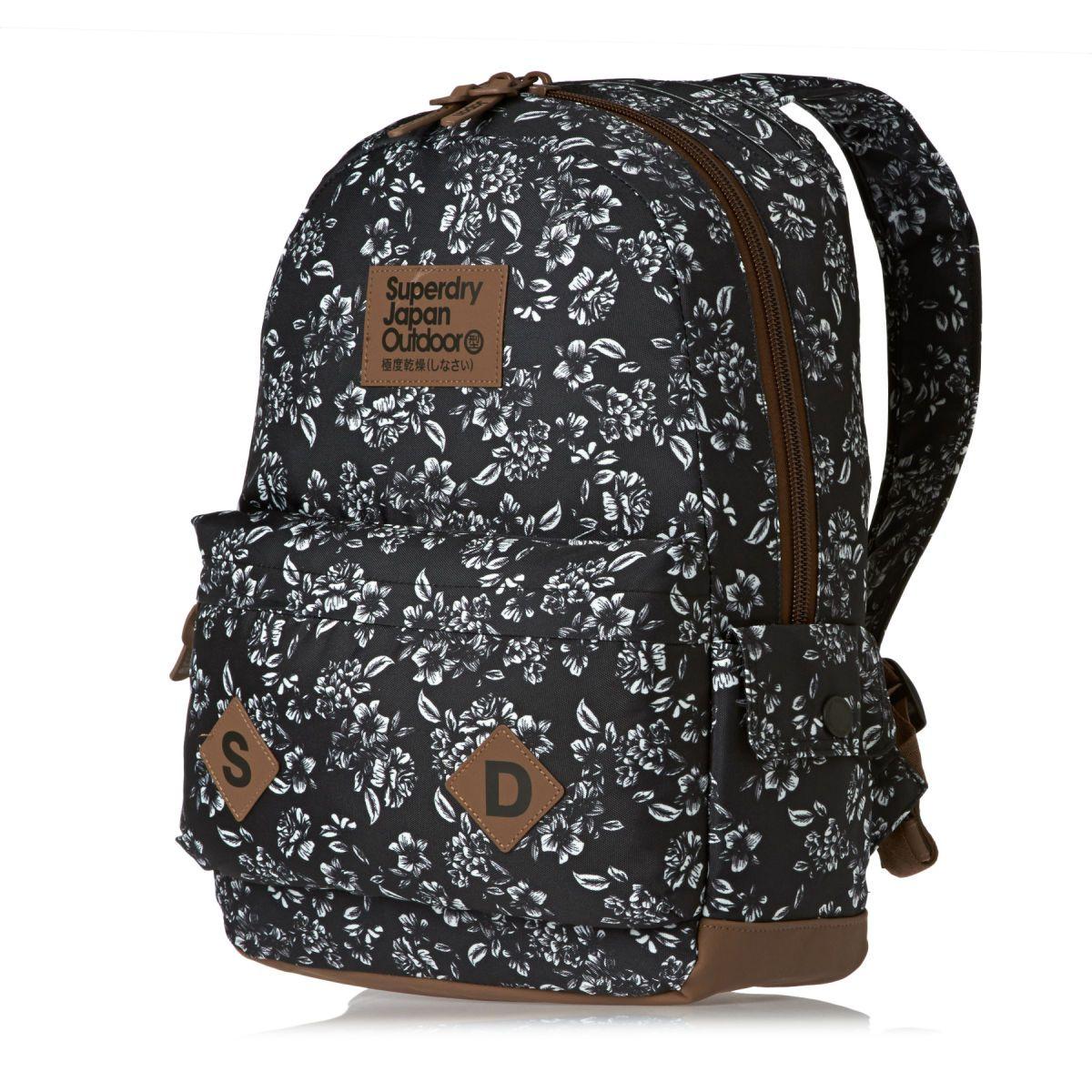 Superdry Freja Montana Backpack - Black Floral | Superdry ... : superdry quilted rucksack - Adamdwight.com