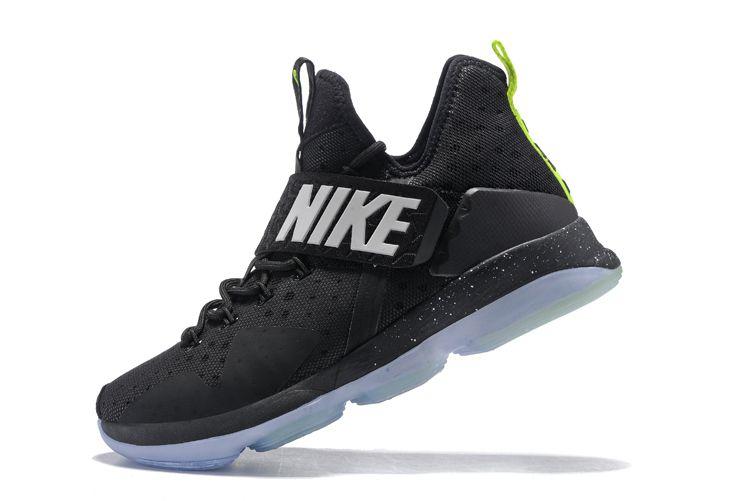 new arrival 5b9c7 f775f 2018 Nike LeBron 14 Black Fluorescent Green-White Men s Size