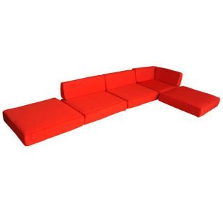 Outsunny 6pc Outdoor Sofa Sectional Furniture Replacement Cushion Covers Red