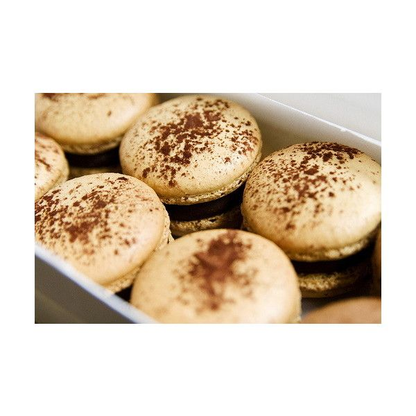 Cream and Chocolate macaroons #fortheloverainie ❤ liked on Polyvore featuring food, pictures, food and drink, food/dessert picture and pics