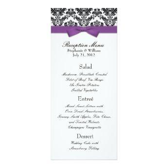 wedding reception menu - Google Search
