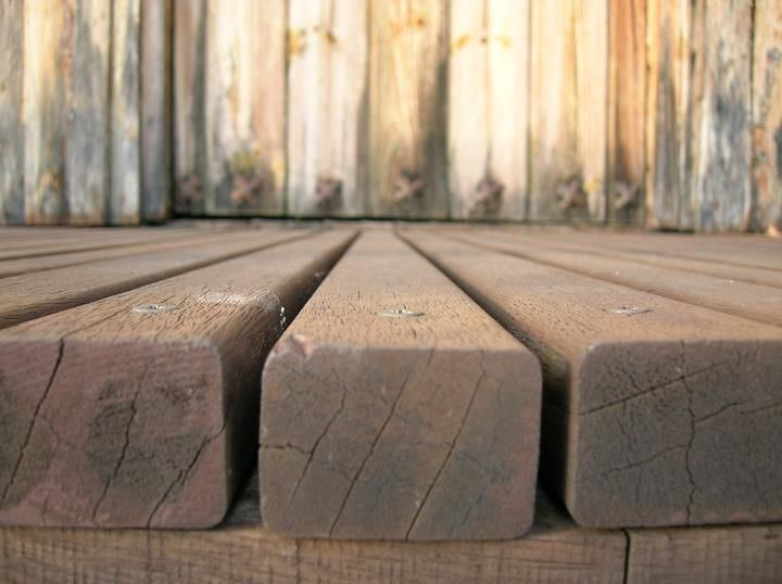 Llistes de fusta en perspectiva