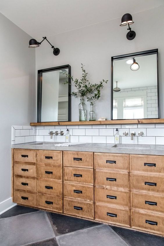 Photo of These Industrial Bathroom Vanity Ideas Are Transporting Us Back in Time | Hunker