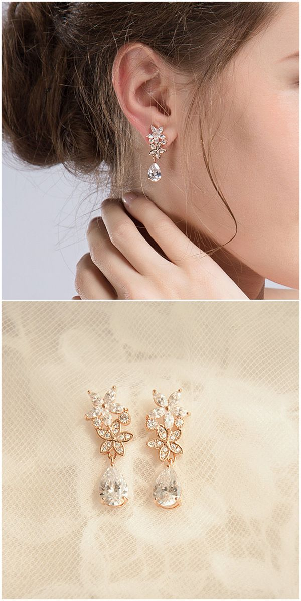 Wedding Accessories Top 10 Stunning Bridal Earrings For Your Big Day Elegantweddinginvites Com Blog Gold Earrings Wedding Wedding Earrings Drop Bridal Earrings