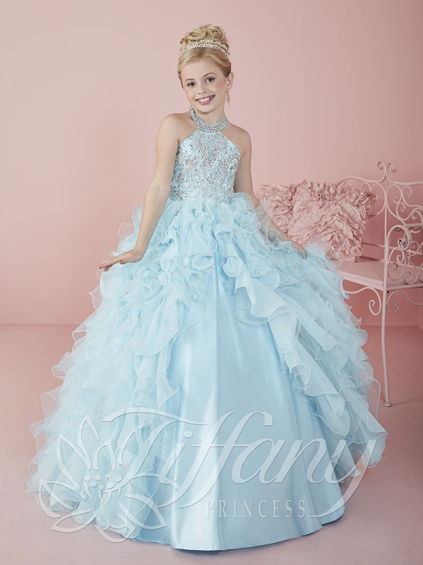 2016 Coral Girls Pageant Dresses Jewel Neck Crystal Beaded Princess ...