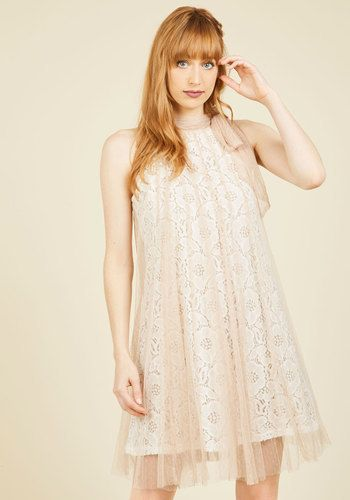 Time and Grace Plus Size Lace Dress in Champagne