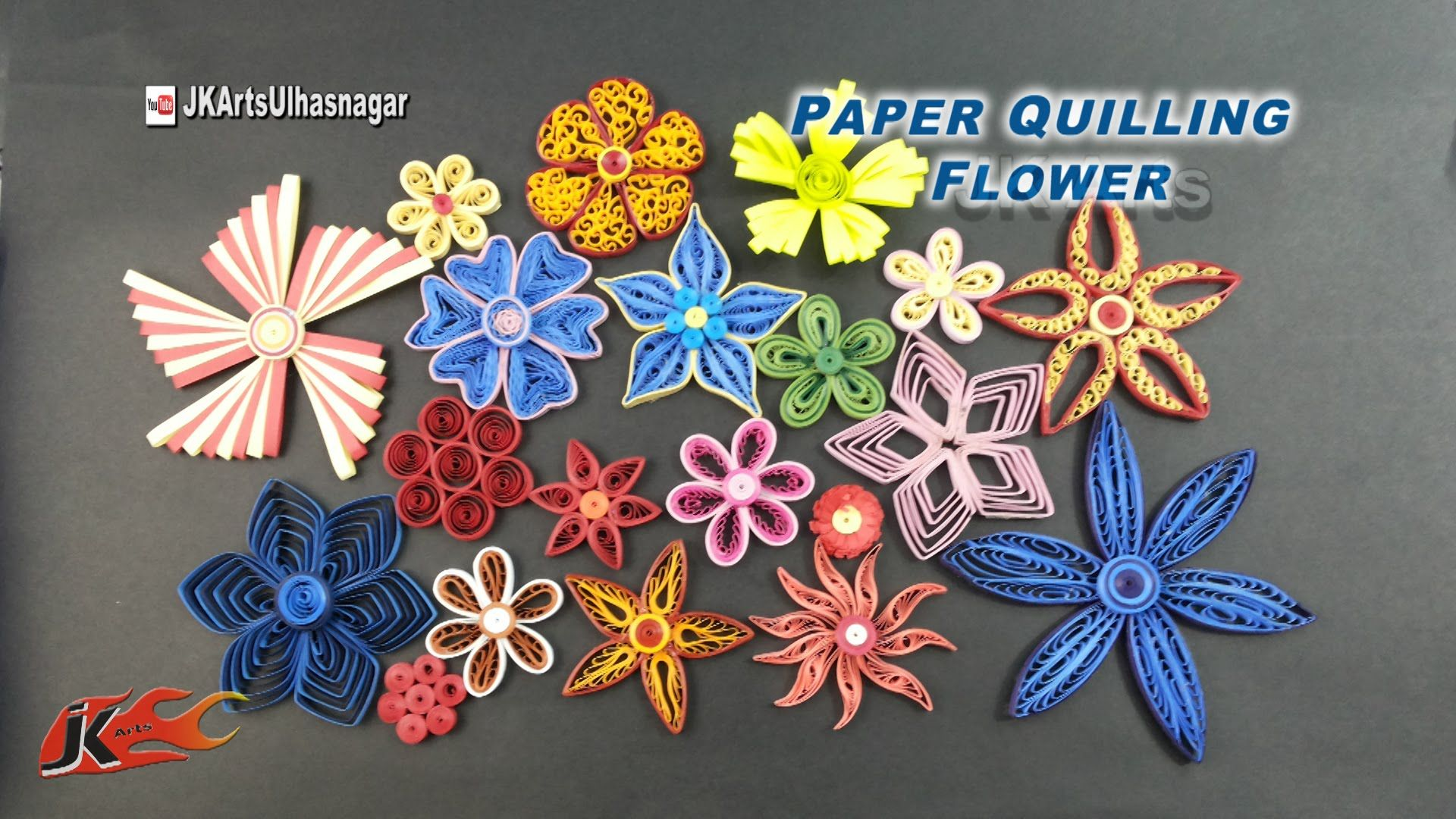 20 Paper Quilling Flowers Tutorial How To Make Jk Arts 922