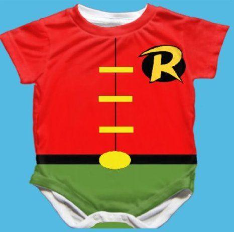 4fe1f48ecef93 Robin Batman Baby Bodysuit Romper Snapsuit | Baby Boy! | Batman baby ...