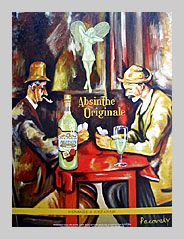 Grande Absente Absinthe Originale art- Homage a Cezanne- by John Pacovsky