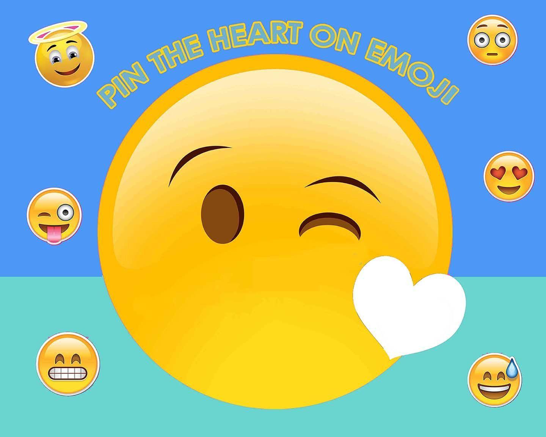 Emoji Pin The Heart Game, Ready To Ship