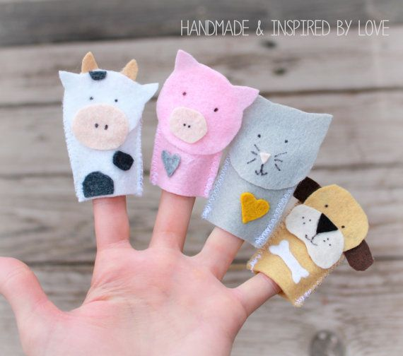 Tiere Auf Dem Bauernhof Fingerpuppen Wolle Filz Tiere Selling Handmade Items Sell Handmade Diy For Kids