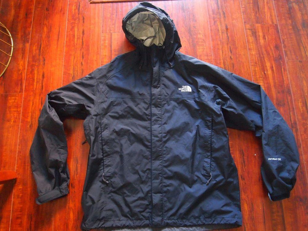 bd46d4e58 Men's The North Face Black Hyvent DT rain jacket windbreaker nylon ...