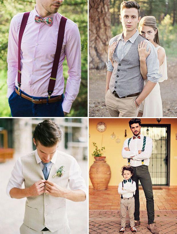 Floral Tie Groom Stylish Pastel Rustic Barn Wedding http ...
