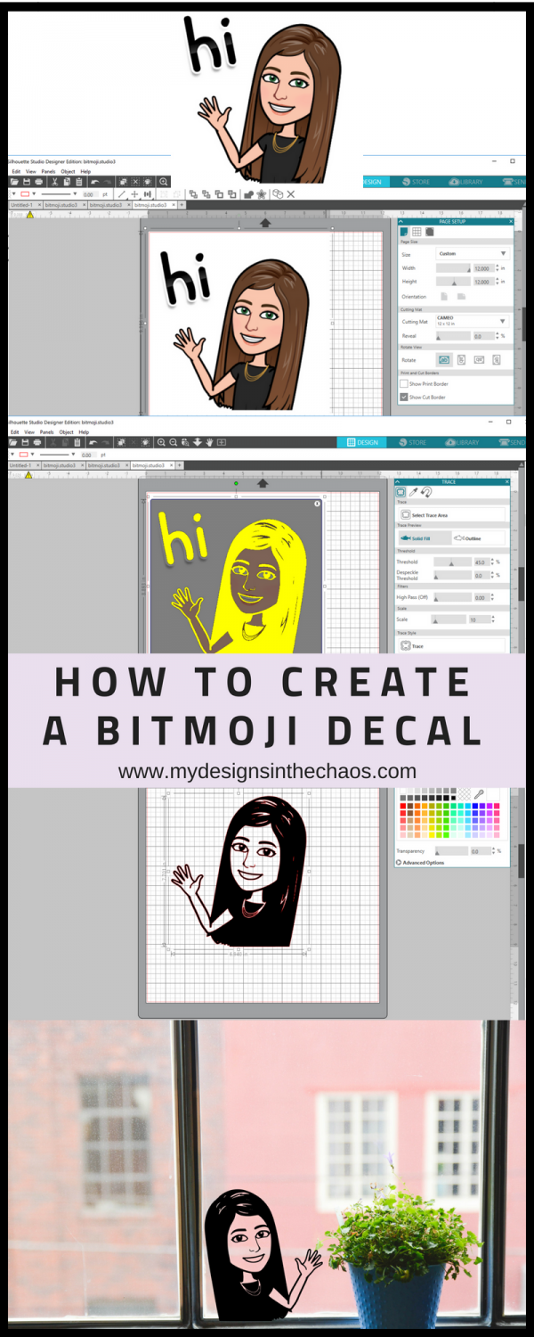 How to Create a Bitmoji Decal | Cricut | Silhouette cameo