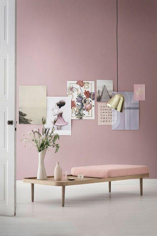 roze muur v rimaailma ihana apartment. Black Bedroom Furniture Sets. Home Design Ideas