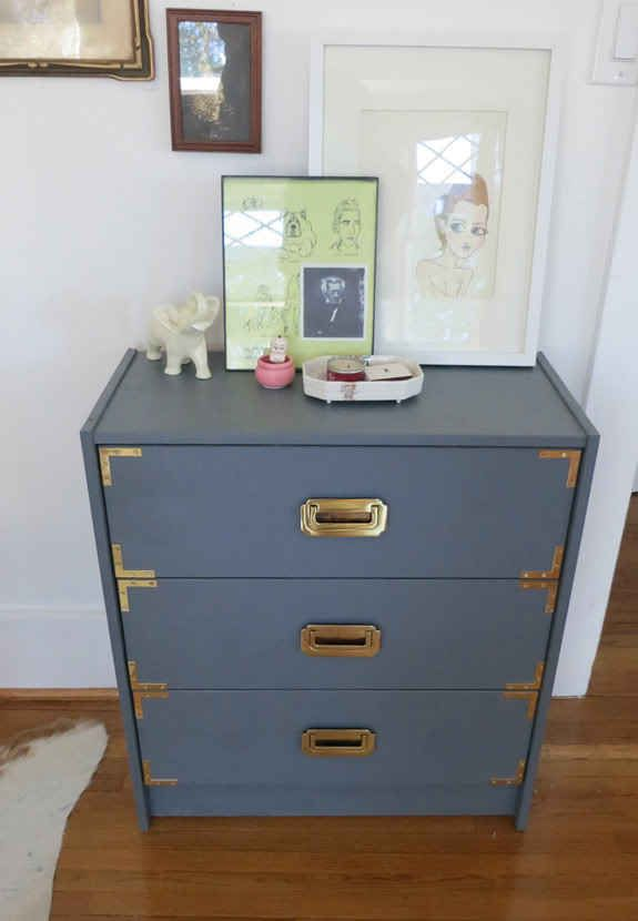 Add Gold Brackets For A Campaign Look Campaign Furniture Diy Dresser Trending Decor