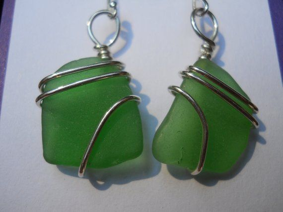 Photo of Beach Glass Jewelry – Seaglass Earrings – From The Pier