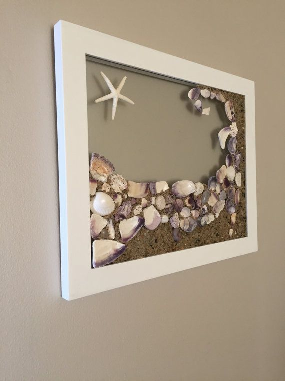 Cape Cod Beach Decor Purple Shell Wall By Capeinspired