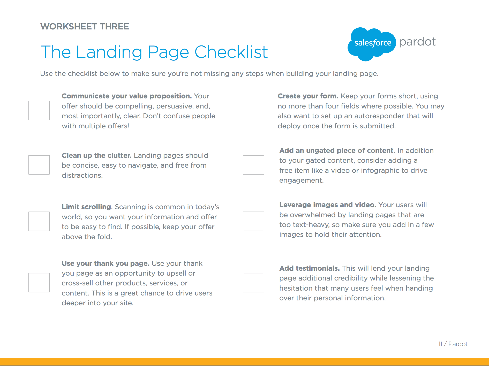 worksheet Your You Re Worksheet 17 best images about worksheets for marketers on pinterest call the perfect landing page checklist