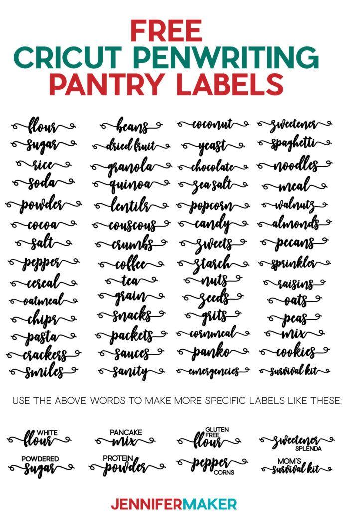 DIY Pantry Labels on a Cricut Joy, Explore, or Maker! - Jennifer Maker