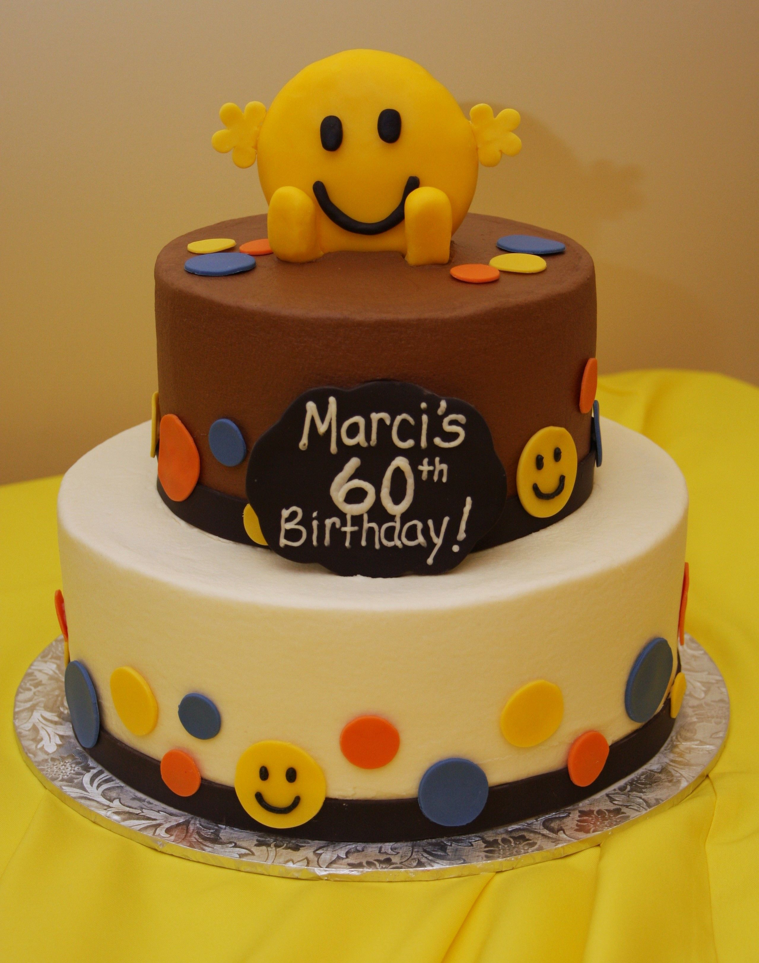 Smiley Face Birthday Cake With Images Cake Birthday