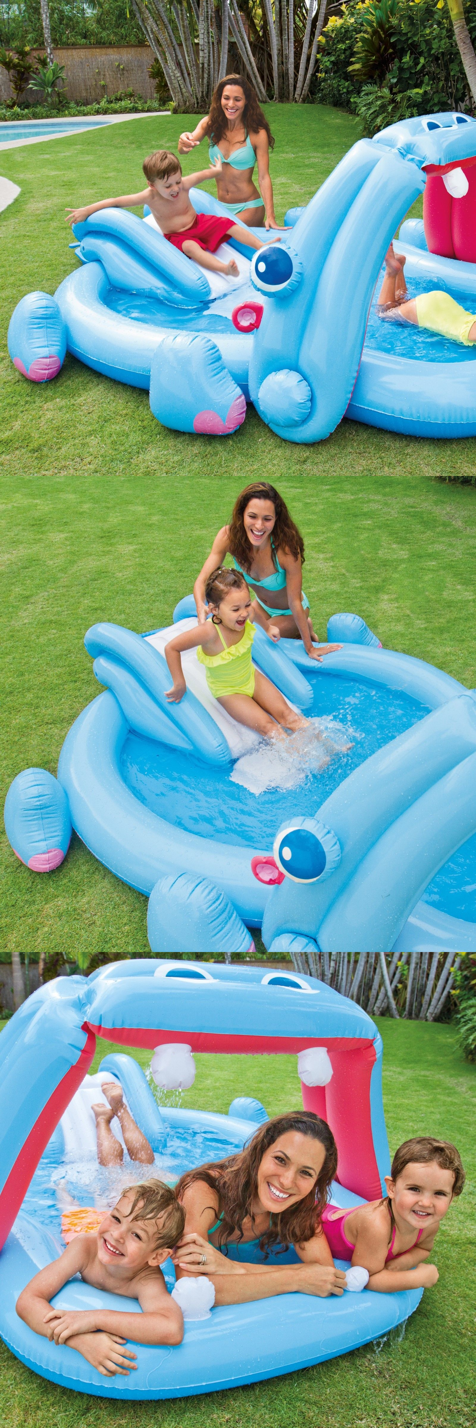 Inflatable and Kid Pools Pool Kids Play Center Water Slide