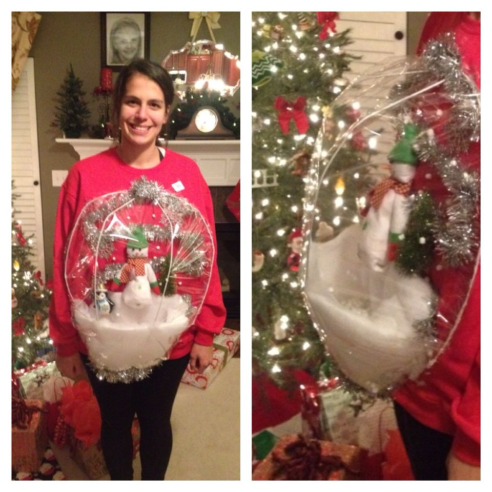 Favorite Guys Diy Ugly Sweater Ideas Ugly Sweater Snow Globe Ugly Sweater Snow Globe Ugly Sweaters Diy Ugly Sweater