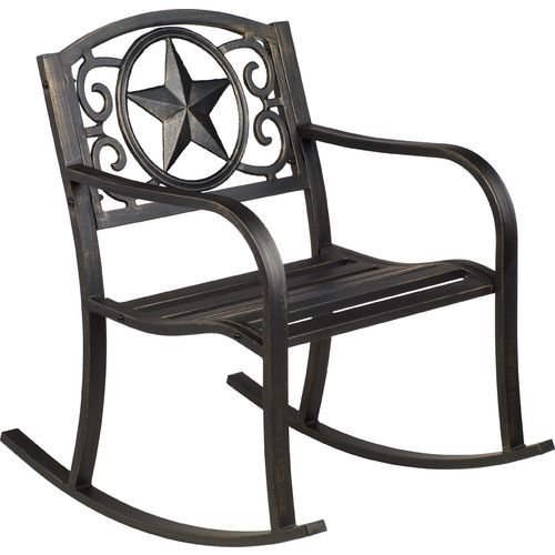 academy sports patio chairs barcelona for sale mosaic rustic star rocker black furniture accessories at