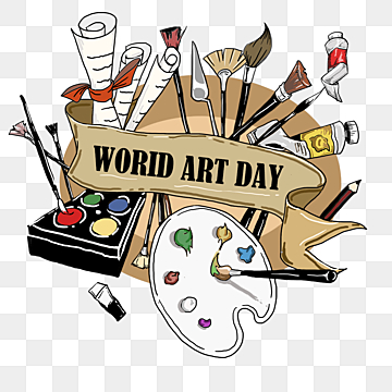 World Art Day Png Images Vector And Psd Files Free Download On Pngtree In 2021 World Art Day Art Day Painted Paper