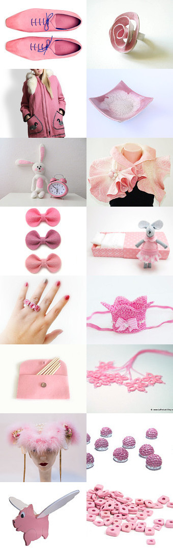 Pleasantly pink! by Nancy Ottati from RevesCreazioni on Etsy--Pinned with TreasuryPin.com
