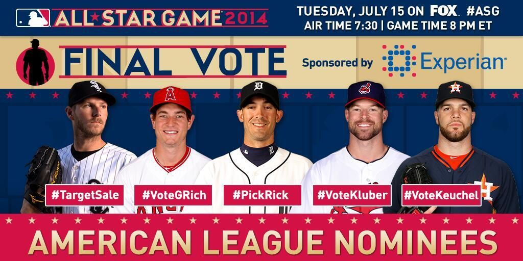 30 Minutes Left To Vote All Star American League Major League Baseball