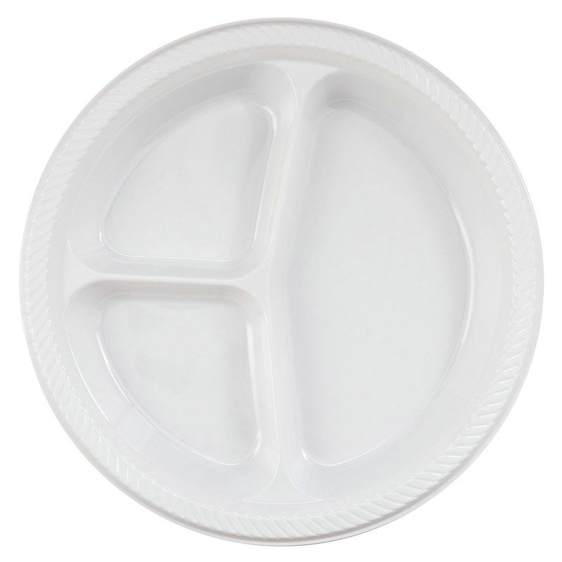 White Divided Dinner Plates 20 Count Description Keep