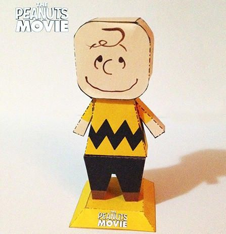 The Peanuts Movie - Charlie Brown Free Papercraft Download - http ...