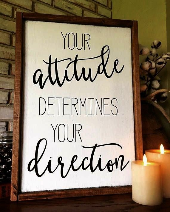 Direction Wood Sign  Farmhouse  Inspiration  Teacher Gift  Positive  Attitude determines Direction Wood Sign  Farmhouse  Inspiration  Teacher Gift  Positive  Motivation A...