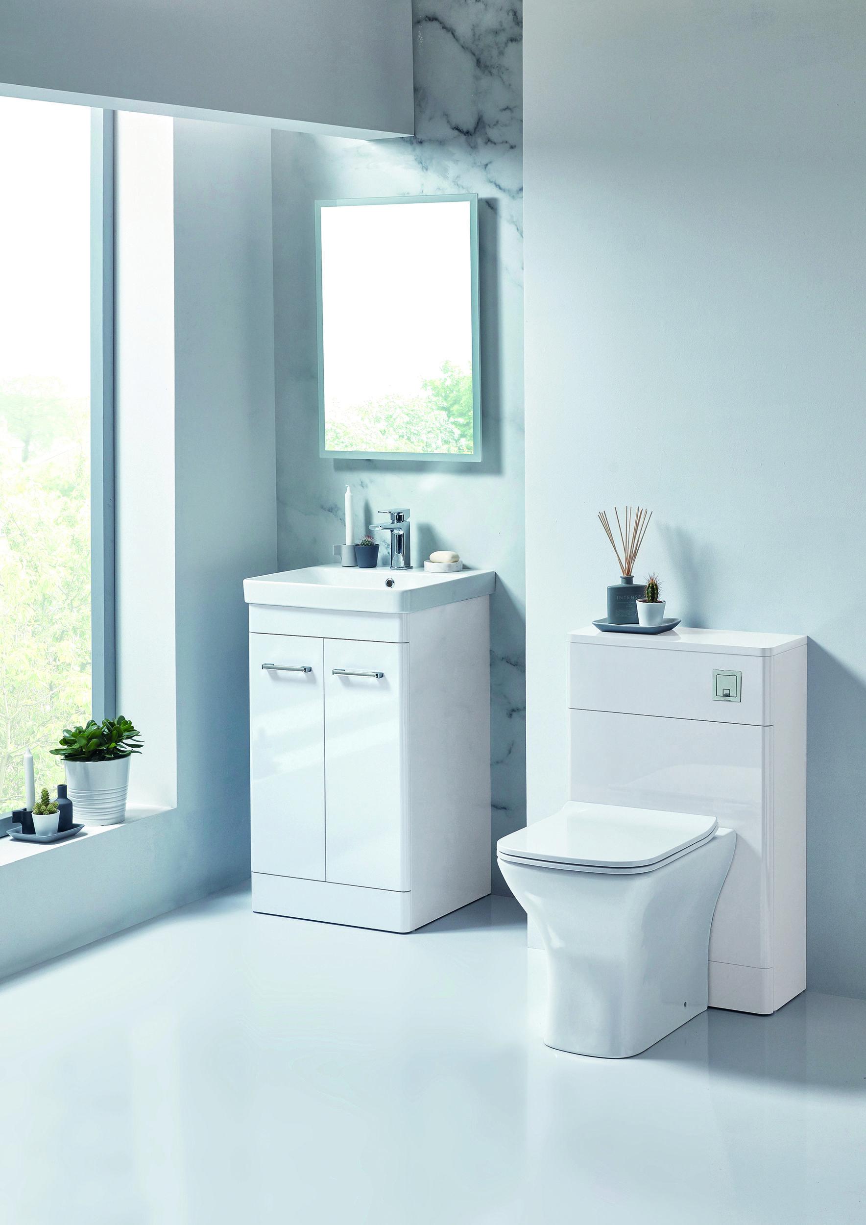 Vasari Rossini White Gloss Floor Standing Door Vanity Unit Basin 600mm White Bathroom Furniture Bathroom Furniture White Units
